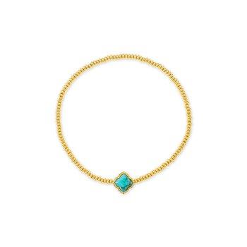 Kendra Scott Mallory Stretch Bracelet Yellow Variegated Turquoise