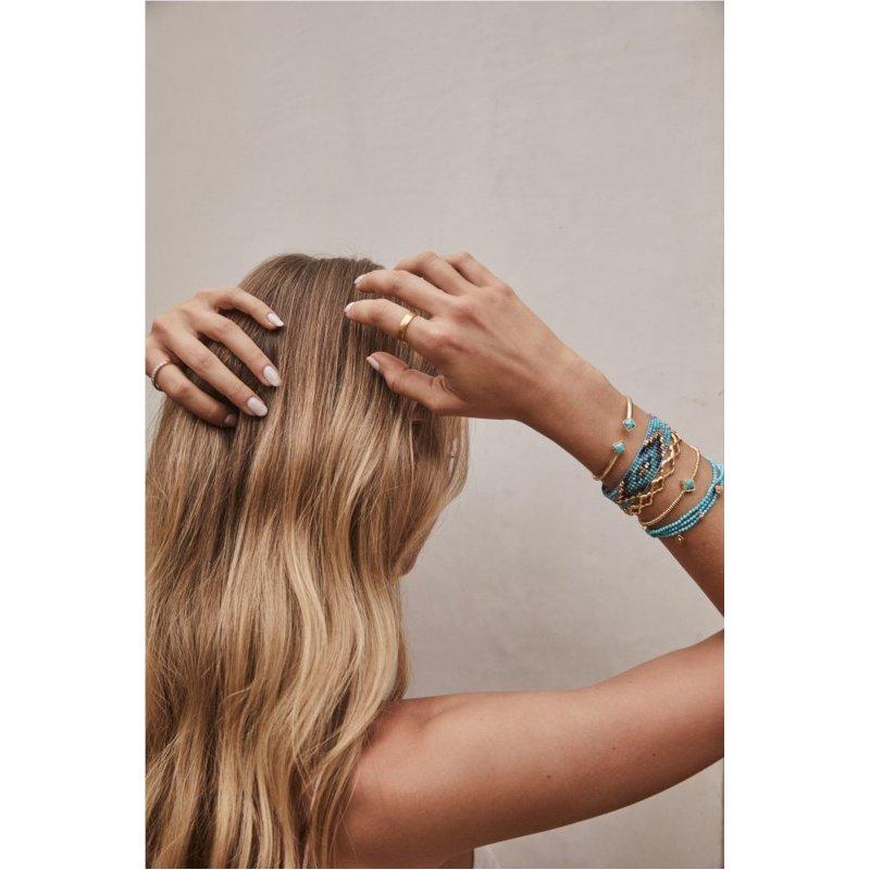 Kendra Scott Kendra Scott Mallory Stretch Bracelet Yellow Variegated Turquoise