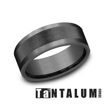8MM Dark Tantalum Straight Band