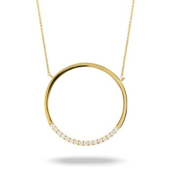 Cut Out Circle Diamond Pendant