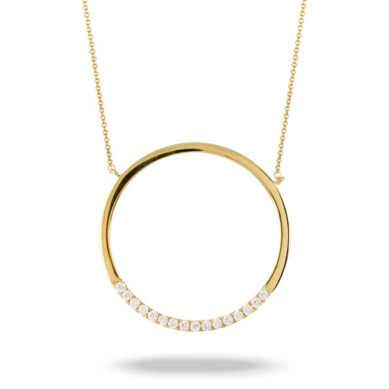 Lasker Diamond Fashion Cut Out Circle Diamond Pendant