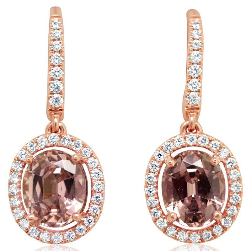 Lasker Gemstone Lotus Garnet Halo Drop Earrings