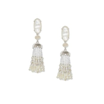 Dove Statement Earrings in Gold and Mother-of-Pearl