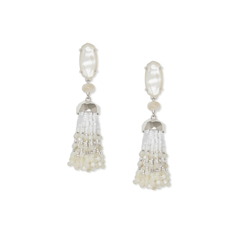 Kendra Scott Dove Statement Earrings in Gold and Mother-of-Pearl