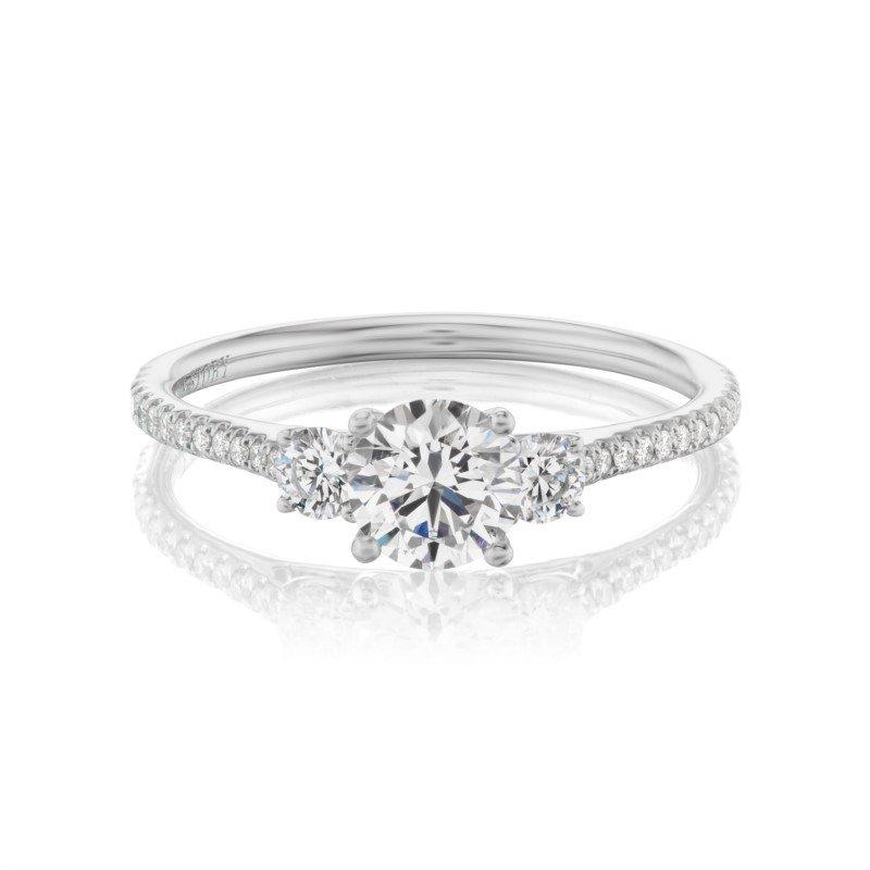 Lasker Bridal Classic Diamond 3-Stone Ring