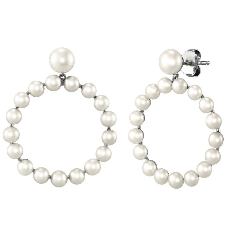 Lasker Pearl Fashion Pearl Circle Drop Earrings