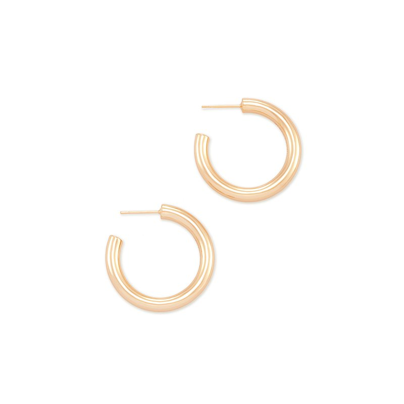 Kendra Scott Colette Rose Gold Hoop Earrings