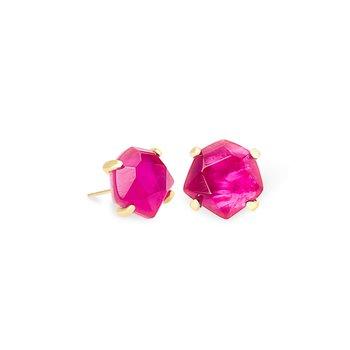 Ellms Gold Stud Earrings In Azalea Illusion