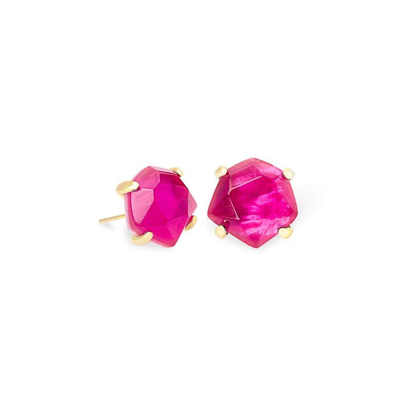 Kendra Scott Ellms Gold Stud Earrings In Azalea Illusion