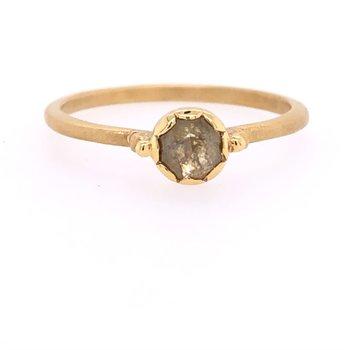 Megan Thorne Lottie Ring With Rustic Diamond