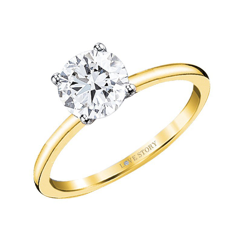 Lasker Bridal Simply Petite Solitaire Ring Mounting
