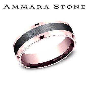 AMMARA STONE 14KR & BLACK TITANIUM