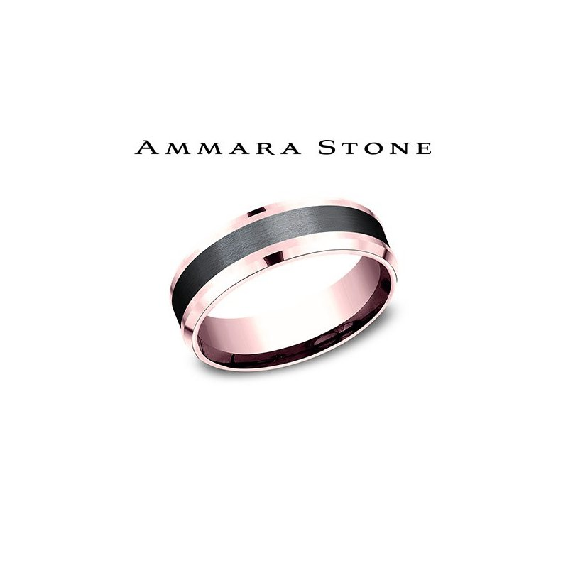 Lasker Men's AMMARA STONE 14KR & BLACK TITANIUM