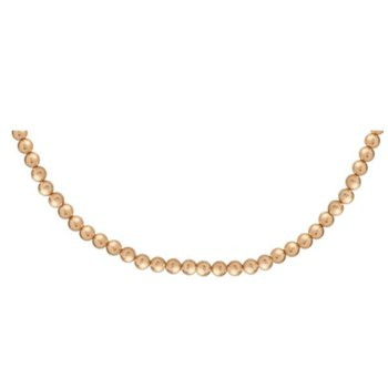 Classic Gold Filled 5mm Bead Choker 17""