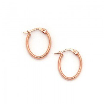 Oval Tube Hoop Earrings