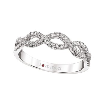 Infinity Weave Stackable Ring