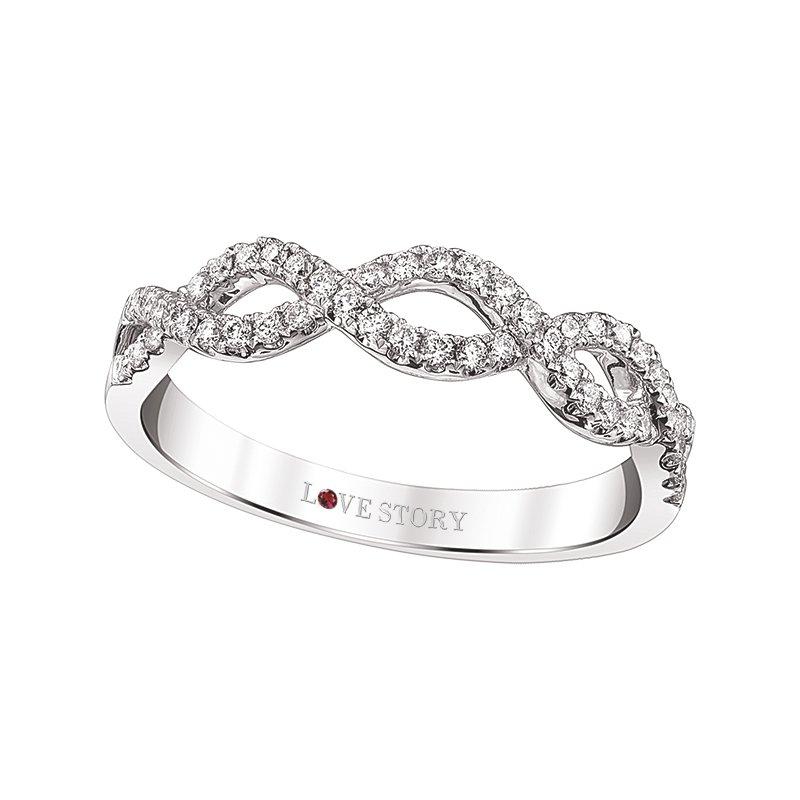 Lasker Bridal Infinity Weave Stackable Ring