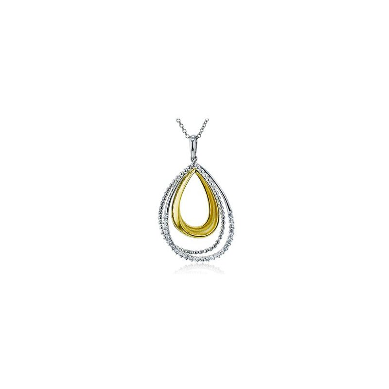 Simon G Nesting Teardrop Diamond Pendant