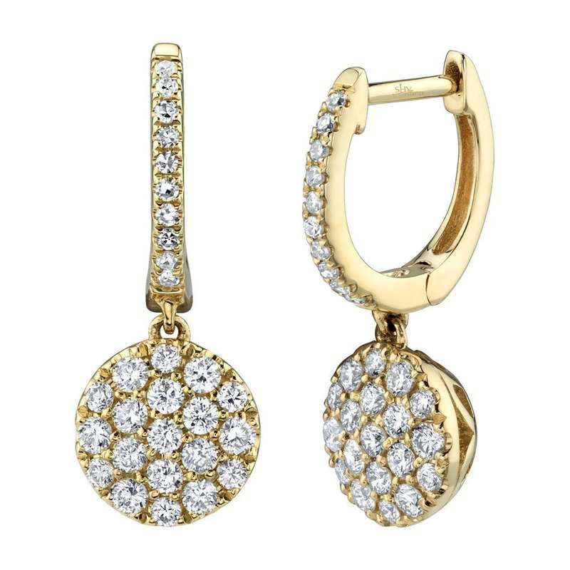 Lasker Diamond Fashion Diamond Pave Drop Earrings