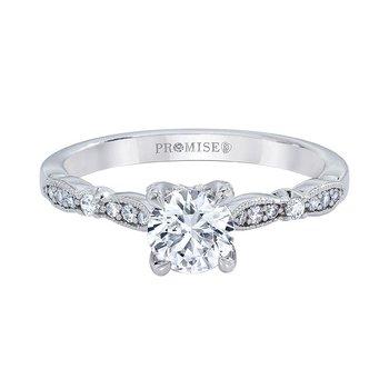 Vintage Inspired - 3/4ct Round Center Diamond