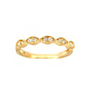 Scalloped Stackable Diamond Band