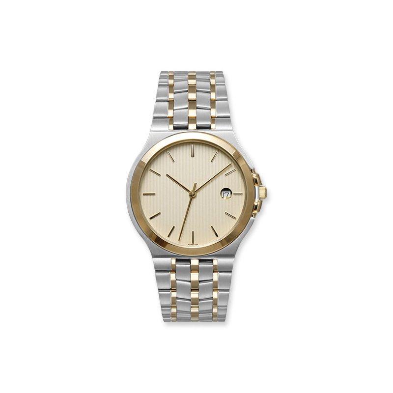 Lasker's Timepiece Collection Lasker 41mm Steel & Gold-Toned Timepiece