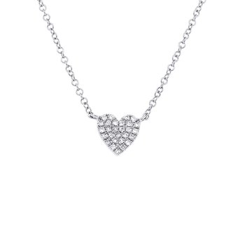 Full Heart Pave' Diamond Pendant