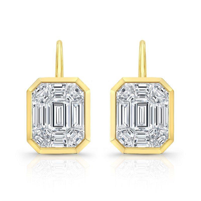 Lasker Diamond Fashion Kaleido Diamond Drop Earrings