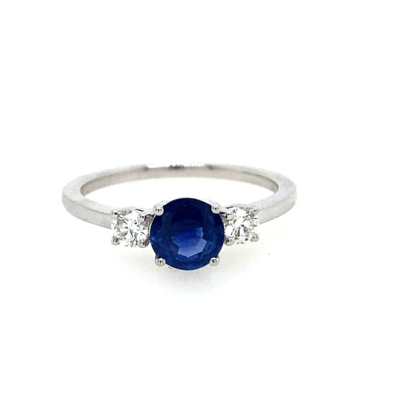 Lasker Gemstone Sapphire Past, Present, Future Ring