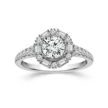 Vintage Style Halo Ring