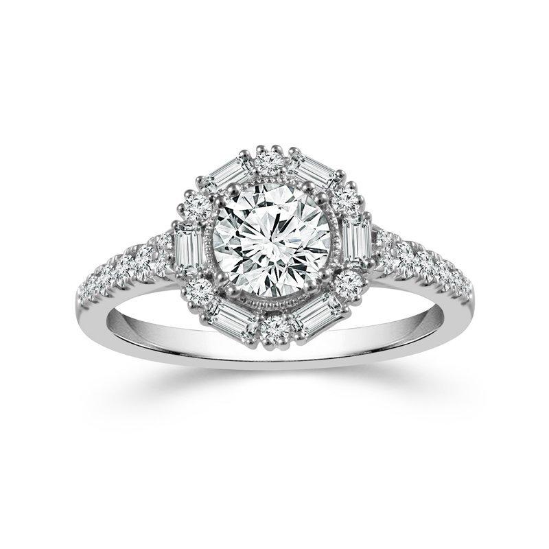 Lasker Bridal Vintage Style Halo Ring