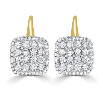 Firenze II Cushion Diamond Earrings