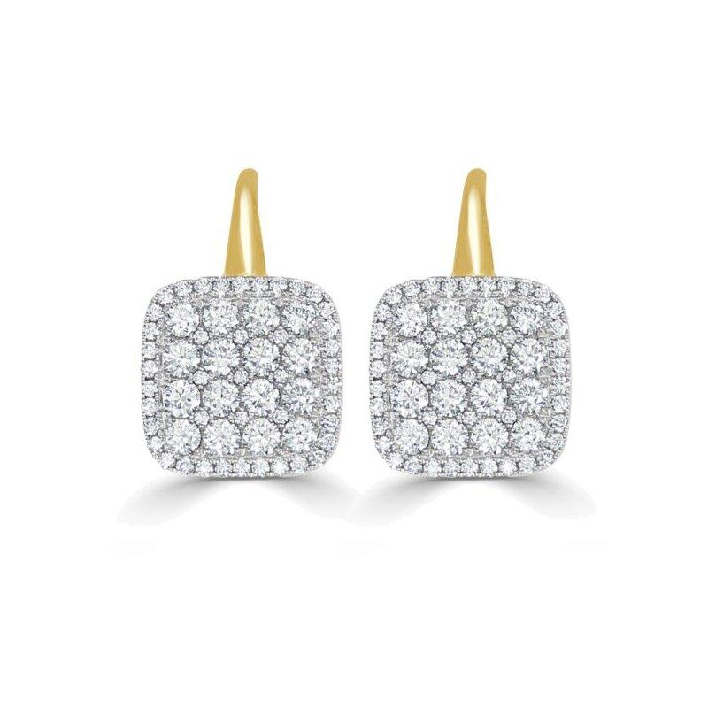Frederic Sage Firenze II Cushion Diamond Earrings