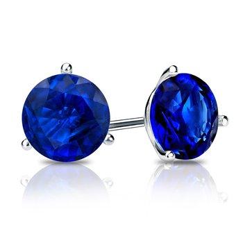 Chatham Blue Sapphire Studs