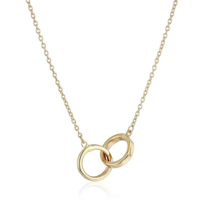 Lasker Gold Fashion Interlocking Circles Necklace