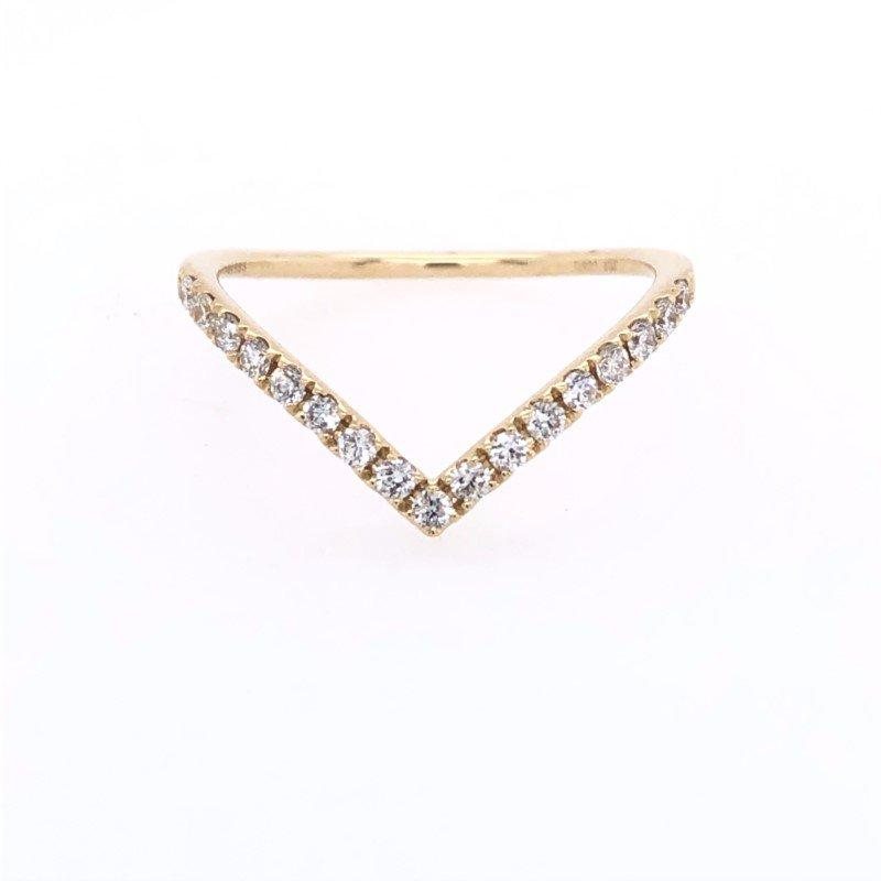 Lasker Bridal Deep Chevron Diamond Band
