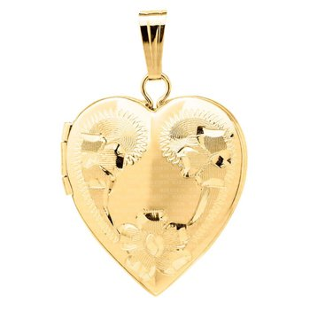 16x14mm Engraved Heart Locket