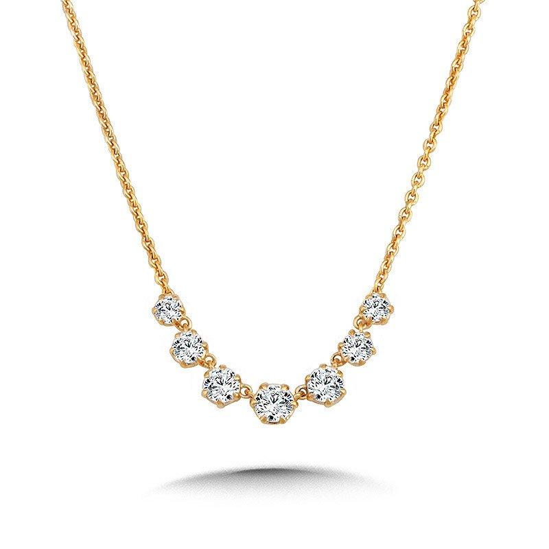 Lasker Diamond Fashion Milestone Diamond Necklace - .70cttw