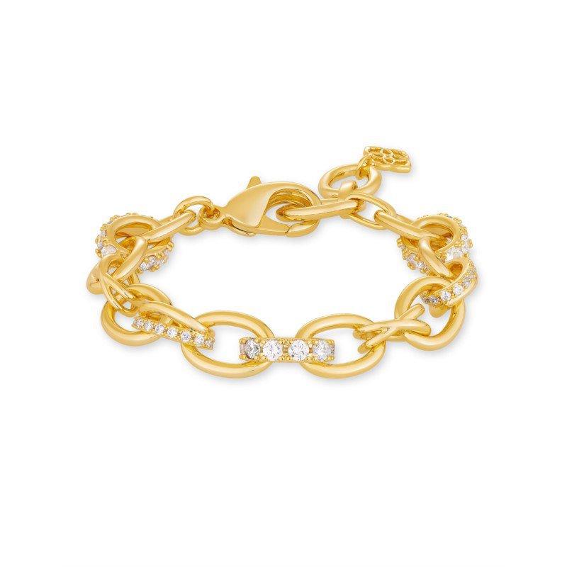 Kendra Scott Kendra Scott Livy Chain Bracelet In Yellow