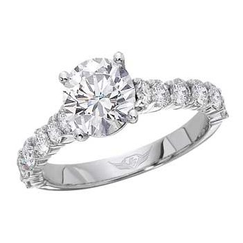 Classic Prong Ring with Round Diamond Center