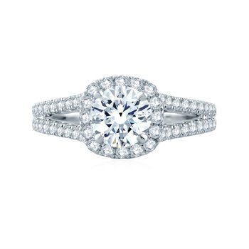 Fire & Ice Evelyn Ring - .76ct Center Diamond