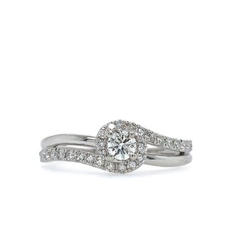 Swirl Diamond Ring -  .51cttw