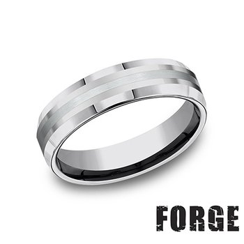 6MM TUNGSTEN & 18KT WHITE GOLD BAND