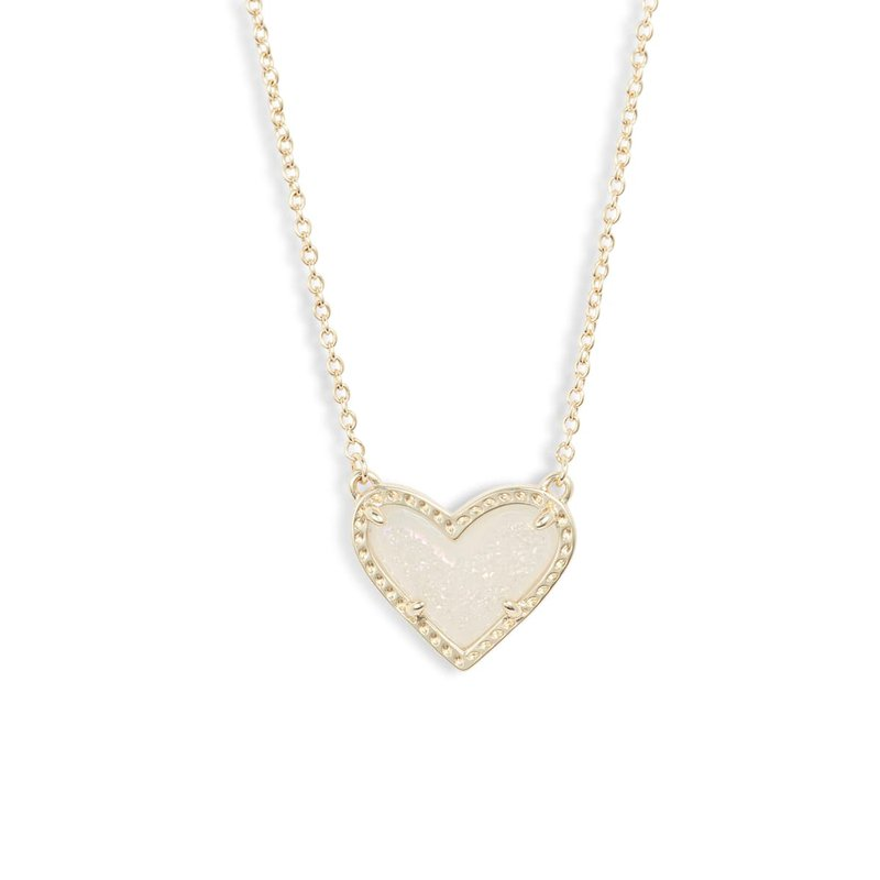 Kendra Scott Ari Heart Pendant in Iridescent Drusy