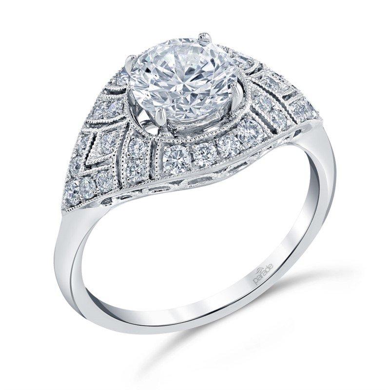 Lasker Bridal Vintage Style Diamond Engagement Ring Mounting