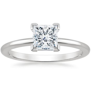 1.02ct Princess-Cut Solitaire Ring