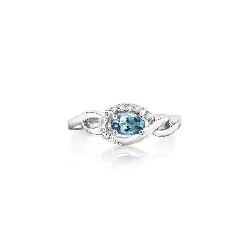 Lasker Gemstone Aquamarine Ring