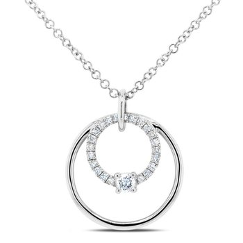 You and Me Circle Necklace
