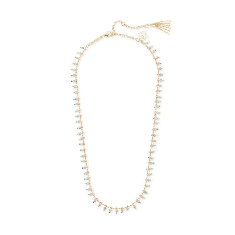 Kendra Scott Jenna Gold Choker Necklace In White Howlite