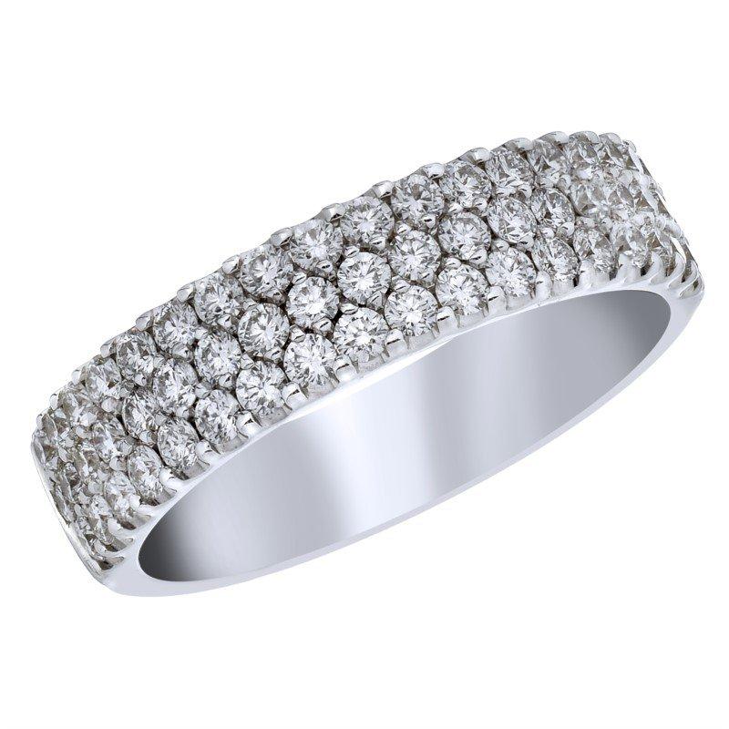 Lasker Bridal Diamond Pave Ring